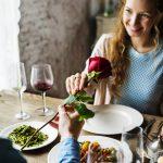 Couple having a romantic dinner.